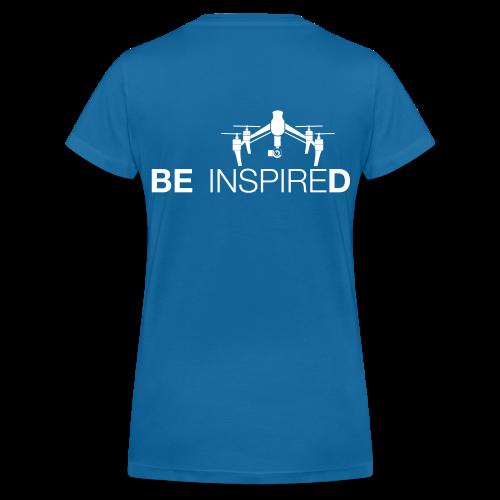 T-shirt V: Be Inspired (woman) | Blue - Vrouwen bio T-shirt met V-hals van Stanley & Stella