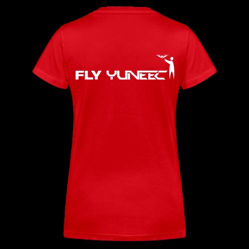 T-shirt V: Fly Yuneec (woman) | Red - Vrouwen bio T-shirt met V-hals van Stanley & Stella