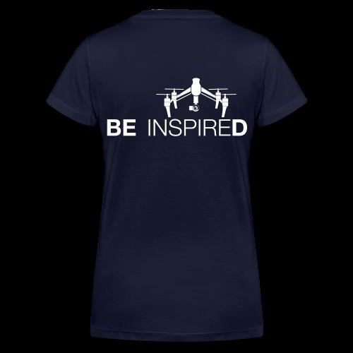 T-shirt V: Be Inspired (woman) | Navy - Vrouwen bio T-shirt met V-hals van Stanley & Stella