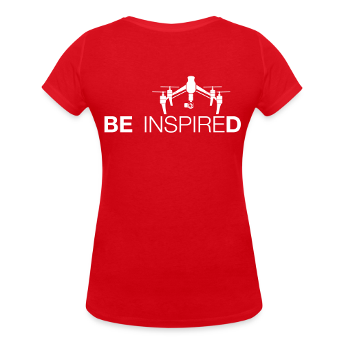 T-shirt V: Be Inspired (woman) | Red - Vrouwen bio T-shirt met V-hals van Stanley & Stella