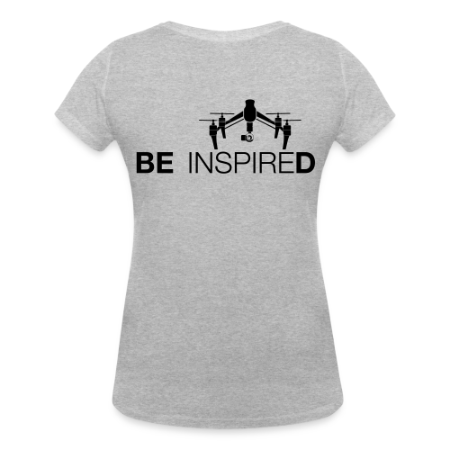T-shirt V: Be Inspired (woman) | Grey - Vrouwen bio T-shirt met V-hals van Stanley & Stella