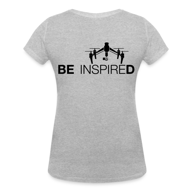 T-shirt V: Be Inspired (woman) | Grey
