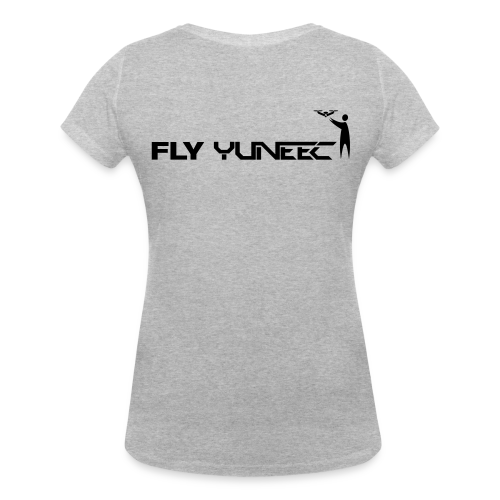 T-shirt V: Fly Yuneec (woman) | Grey - Vrouwen bio T-shirt met V-hals van Stanley & Stella