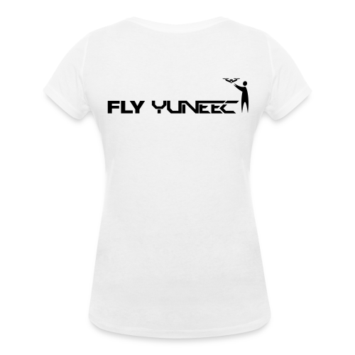 T-shirt V: Fly Yuneec (woman) | White - Vrouwen bio T-shirt met V-hals van Stanley & Stella