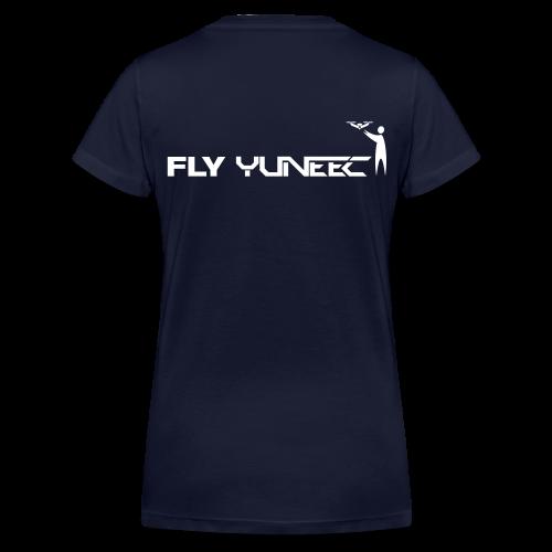 T-shirt V: Fly Yuneec (woman) | Navy - Vrouwen bio T-shirt met V-hals van Stanley & Stella