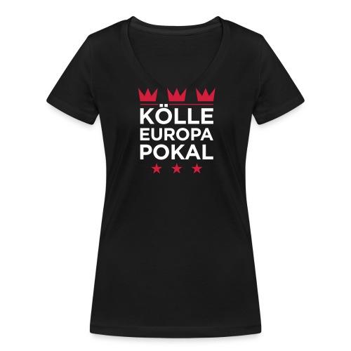 KÖLLE EUROPAPOKAL – Mädcher-Shirt - Frauen Bio-T-Shirt mit V-Ausschnitt von Stanley & Stella