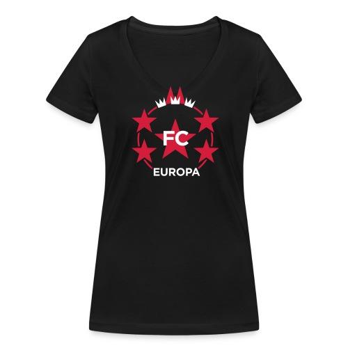 EUROPAPOKAL STÄÄNE KÖLN – Mädcher-Shirt - Frauen Bio-T-Shirt mit V-Ausschnitt von Stanley & Stella