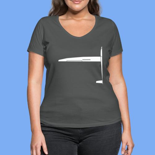Sailplane halfsize - Women's Organic V-Neck T-Shirt by Stanley & Stella
