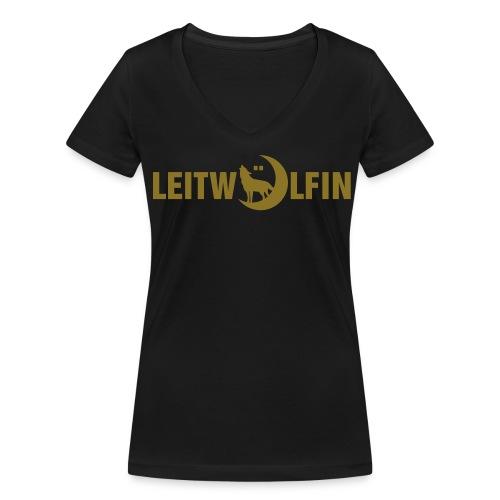 Leitwölfin - Frauen Bio-T-Shirt mit V-Ausschnitt von Stanley & Stella