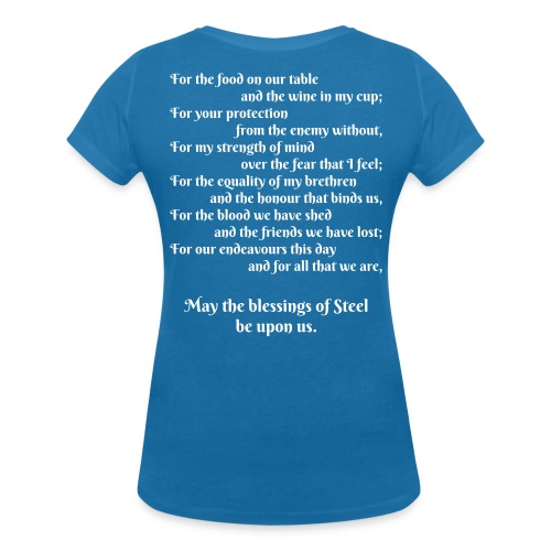 A Blessing of Steel Ladies - Women's Organic V-Neck T-Shirt by Stanley & Stella