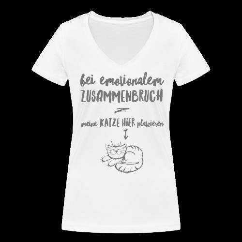 Bei emotionalem Zusammenbruch - Frauen Bio-T-Shirt mit V-Ausschnitt von Stanley & Stella