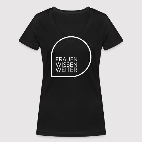 Brigitte Academy Statement T-Shirt V-Neck - Frauen Bio-T-Shirt mit V-Ausschnitt von Stanley & Stella