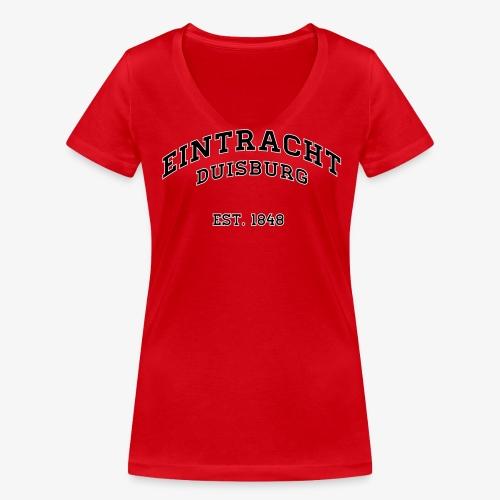 College Frauen T-Shirt - RED - Frauen Bio-T-Shirt mit V-Ausschnitt von Stanley & Stella