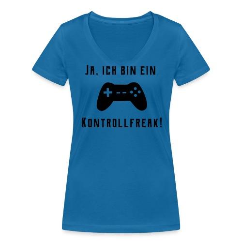 Gamer Controller Kontrollfreak T-Shirts - Frauen Bio-T-Shirt mit V-Ausschnitt von Stanley & Stella