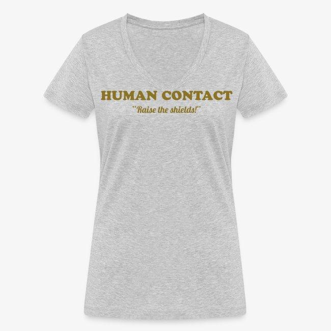 Human contact - t-paita  v-kaula-aukolla