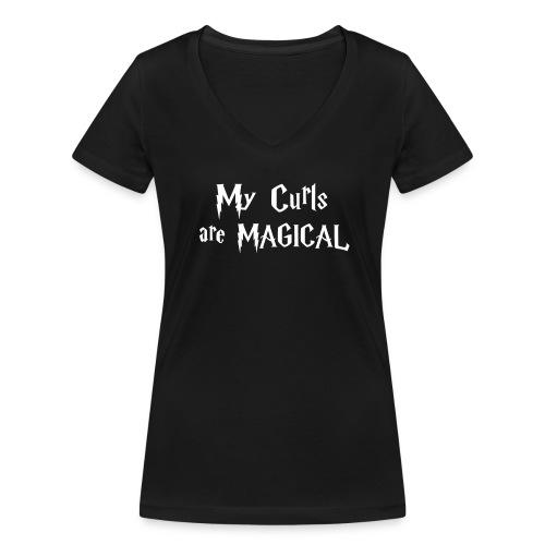My Curls are MAGICAL - Frauen Bio-T-Shirt mit V-Ausschnitt von Stanley & Stella