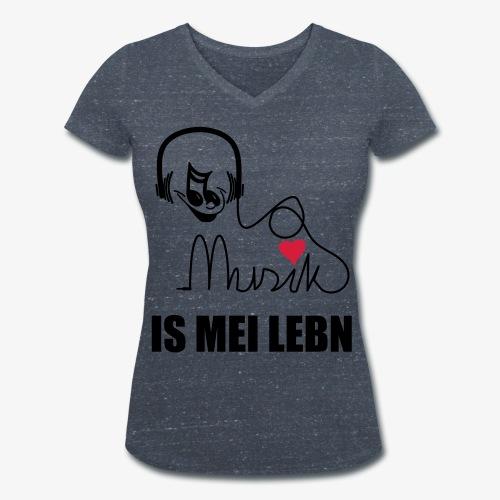 Musik is - Frauen Shirt - Frauen Bio-T-Shirt mit V-Ausschnitt von Stanley & Stella