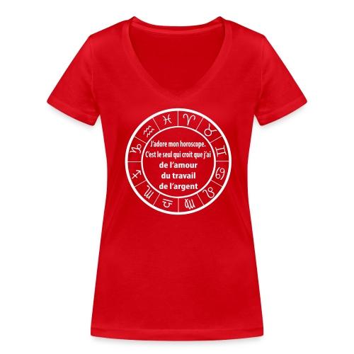 Horoscope amour travail santé - T-shirt bio col V Stanley & Stella Femme