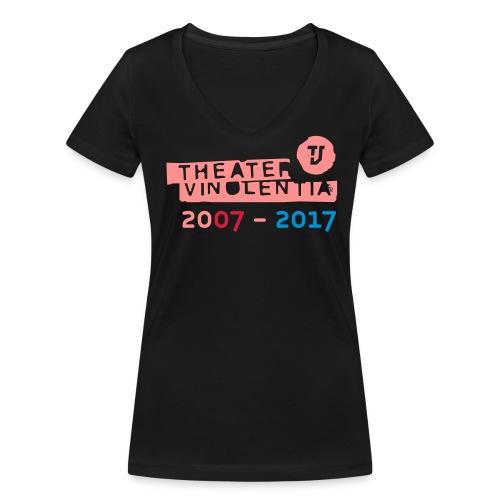 10 Jahre Theater Vinolentia 2007-2017 - Frauen Bio-T-Shirt mit V-Ausschnitt von Stanley & Stella
