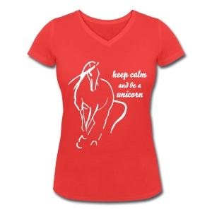 be a Unicorn - Frauen Bio-T-Shirt mit V-Ausschnitt von Stanley & Stella