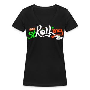 Ladies Just stROLLing (in Ireland) - Women's Organic V-Neck T-Shirt by Stanley & Stella