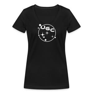 UGC Planet Logo OHNE Backprint - Frauen Bio-T-Shirt mit V-Ausschnitt von Stanley & Stella