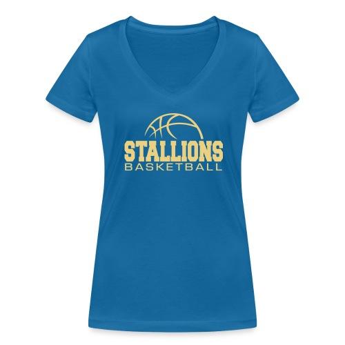 Stallions Frauen T-Shirt mit V-Ausschnitt - Frauen Bio-T-Shirt mit V-Ausschnitt von Stanley & Stella
