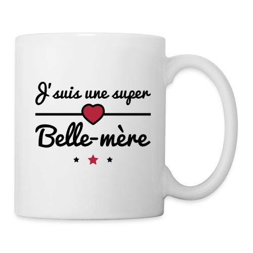 Tasse Super Belle-mère, Cadeau Belle Mère - Mug blanc
