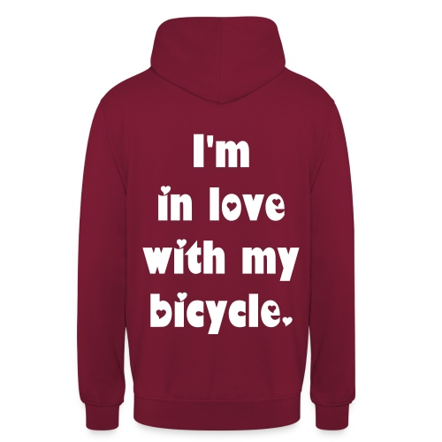 Velo Love - I'm in love with my bicycle. (unisex) - Unisex Hoodie
