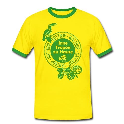 Tropen-Shirt Grün-Gelb - Männer Kontrast-T-Shirt