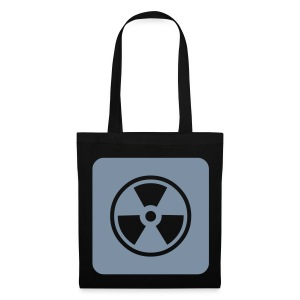 Black Tote bag with Radioactive design - Tote Bag