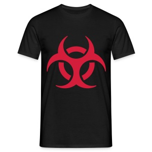 Men's black T-shirt red biohazard - Men's T-Shirt