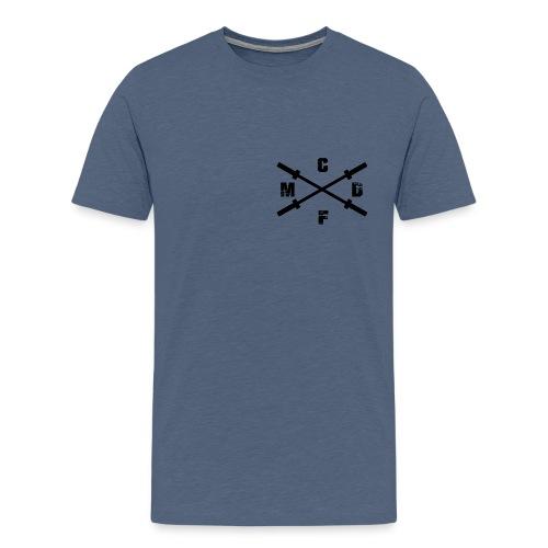 Herren CFMD Crossed Barbell Athlete Shirt - Männer Premium T-Shirt