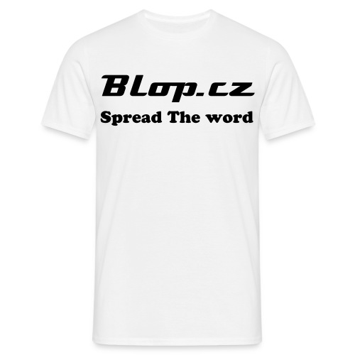Spread the word blop.cz T-shirt - Herre-T-shirt