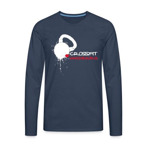 Herren Athlete Langarmshirt, großes helles Logo vorn, verschiedene Farben - Männer Premium Langarmshirt