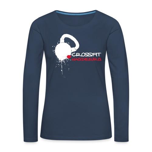 Damen Athlete Langarmshirt, großes helles Logo vorn, verschiedene Farben - Frauen Premium Langarmshirt