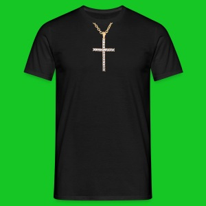 Kruis met diamanten heren t-shirt - Mannen T-shirt