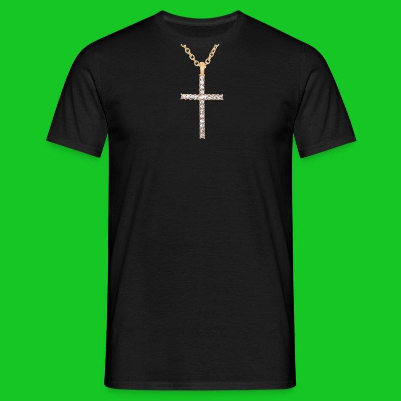 Kruis met diamanten heren t-shirt - Mannen T-shirt