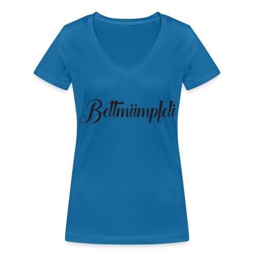 Schweizerdeutsch Bettmümpfeli - Frauen Bio-T-Shirt mit V-Ausschnitt von Stanley & Stella