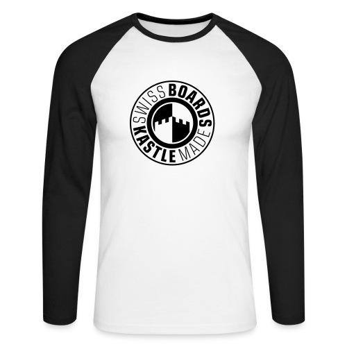 Baseballshirt - Männer Baseballshirt langarm