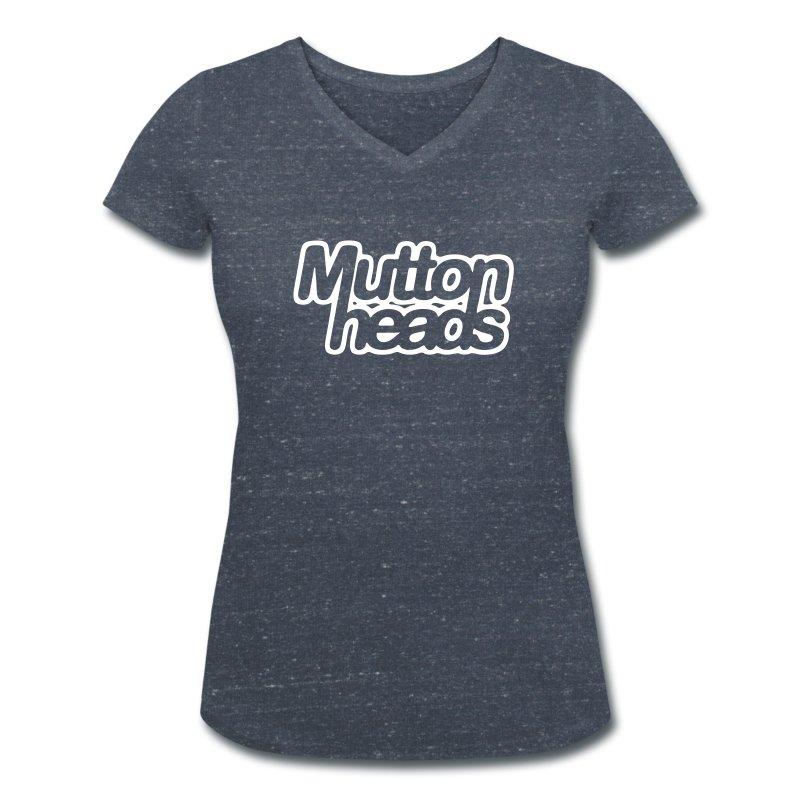 mths_logo_nb - Women's Organic V-Neck T-Shirt by Stanley & Stella