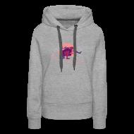 Pullover & Hoodies ~ Frauen Premium Kapuzenpullover ~ Hoodie grau/pink