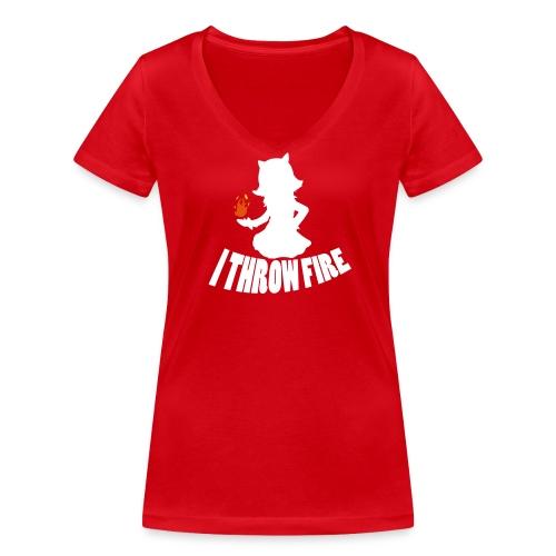 I throw Fire Womens Tee - Women's Organic V-Neck T-Shirt by Stanley & Stella