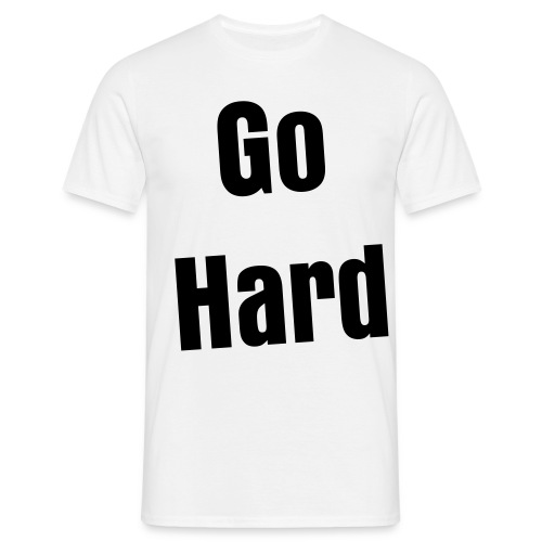 Go Hard - Mannen T-shirt