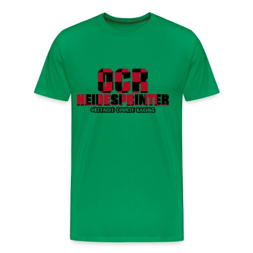 OCR Heidesprinter KARO (einfach) Flockdruck Männer T-Shirt - Männer Premium T-Shirt