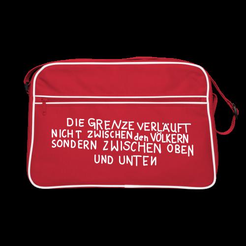 Graffiti: Oben und Unten - Retro Tasche