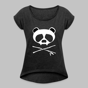 T-shirt femme (woman) Panda Skull - Women's T-shirt with rolled up sleeves
