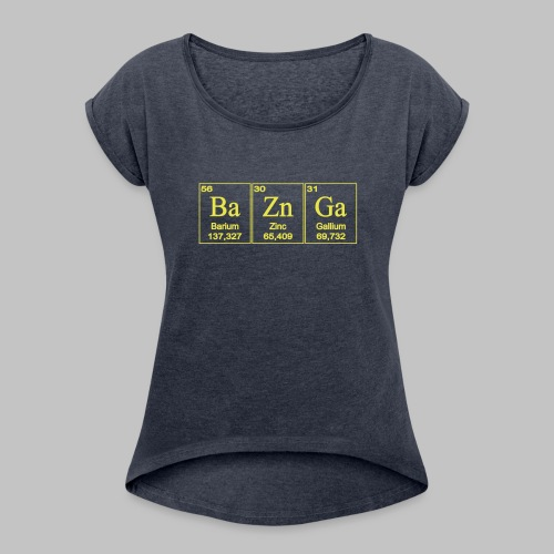 T-shirt femme (woman) - Women's T-Shirt with rolled up sleeves