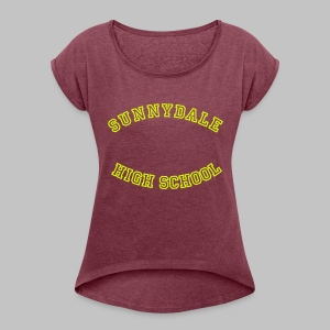 T-shirt femme (woman) Sunnydale - Women's T-shirt with rolled up sleeves