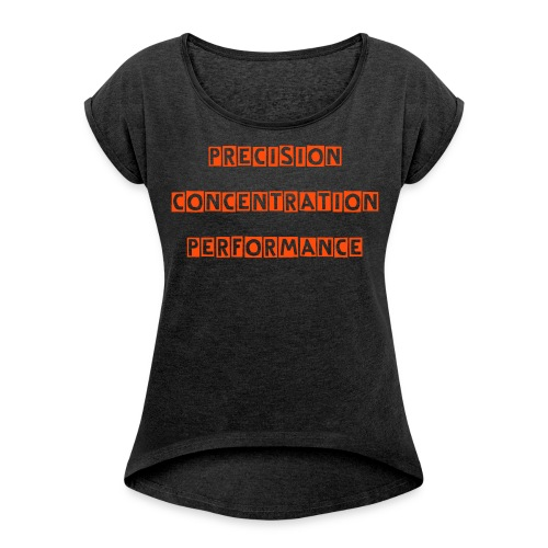 """Womans """"Coached by the Best"""" top - Women's T-Shirt with rolled up sleeves"""